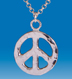 sterling silver peace pendant-LARGE
