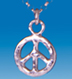 sterling silver peace sign pendant- SMALL