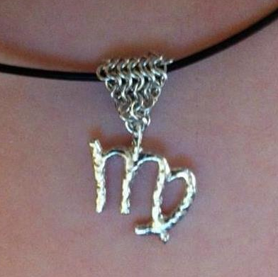 Megan's spin on my virgo zodiac pendant
