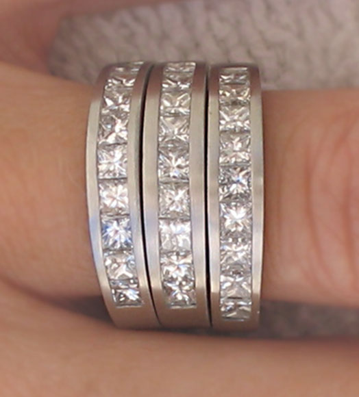platinum & diamond recylcled ring