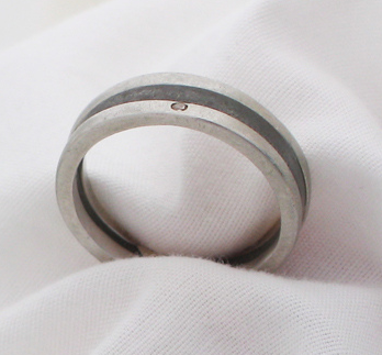 platinum and steel wedding bands