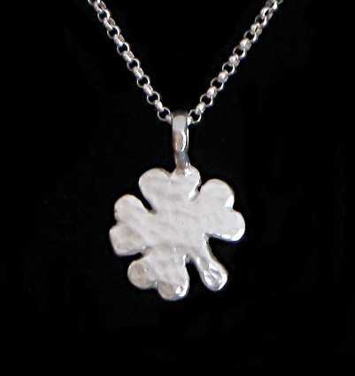 sterling silver four-leaf clover pendants