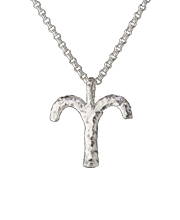 aries zodiac pendant, sterling silver on sterling silver chain