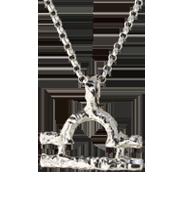 libra zodiac pendant, sterling silver on sterling silver chain