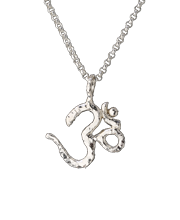 sterling silver om pendant on silver chain