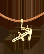 gold vermeil sagittarius pendant