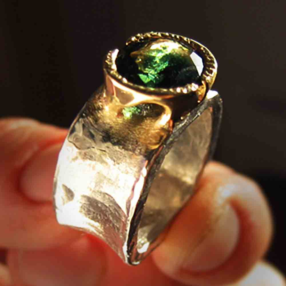 platinum tourmaline ring