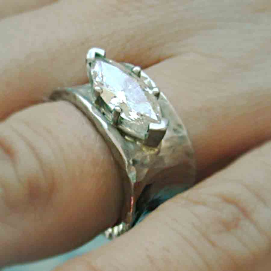 platinum marquis diamond ring