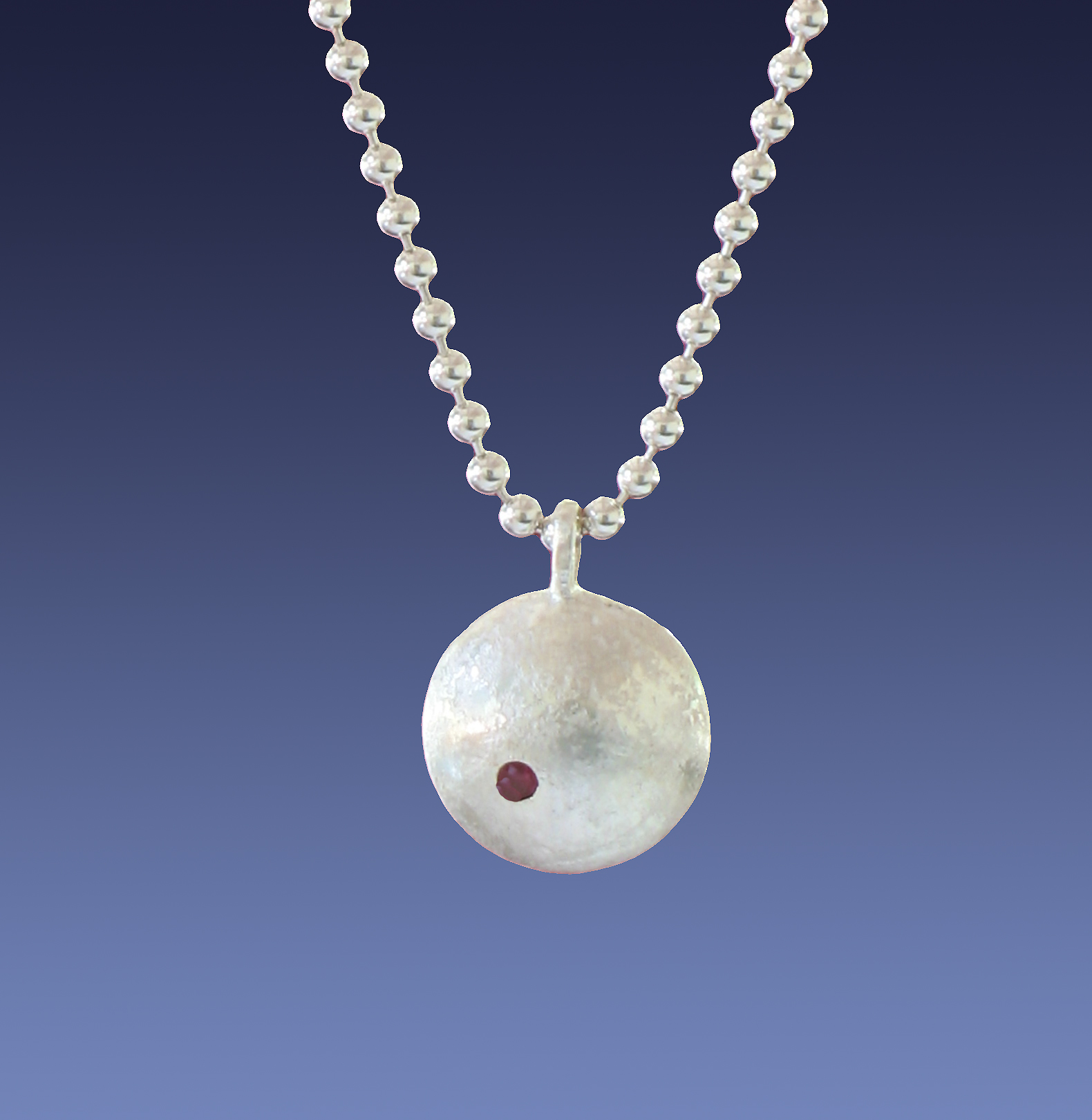sterling silver orb pendant