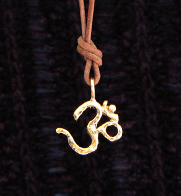 gold vermeil ohm pendants