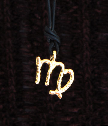 gold vermeil virgo zodiac pendant