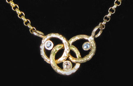 olympic ring birthstone necklace