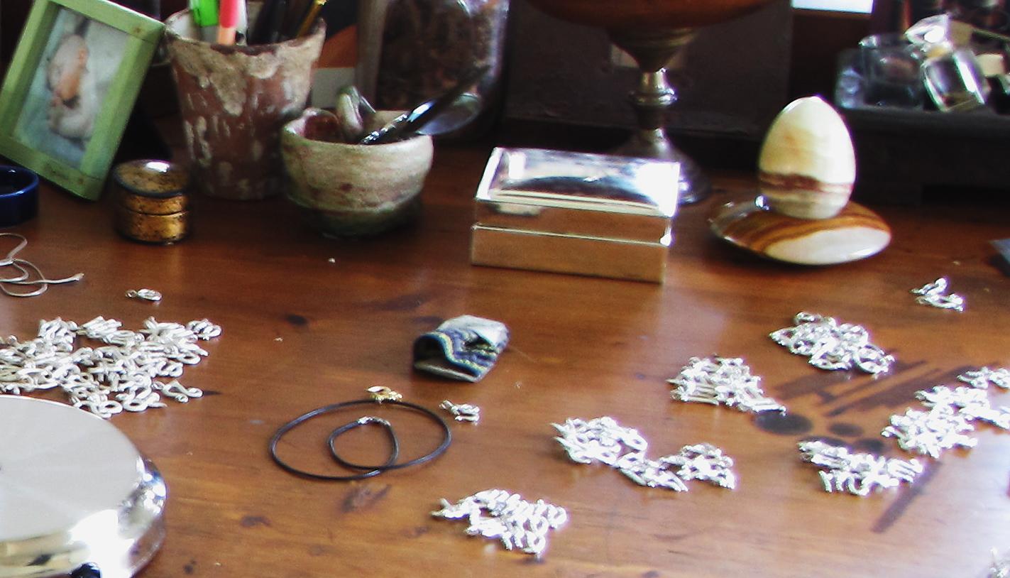 trinkets on my jewelry bench