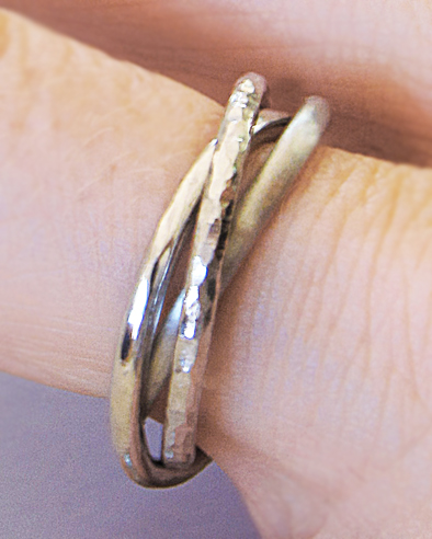 handforged platinum rolling rings