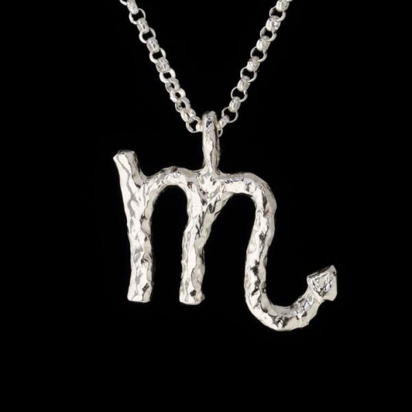 scorpio zodiac charm pendant in sterling silver