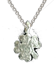 four leaf clover pendant in sterling silver