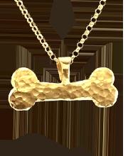 gold vermeil dogbone pendant