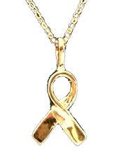gold vermeil survivor ribbon