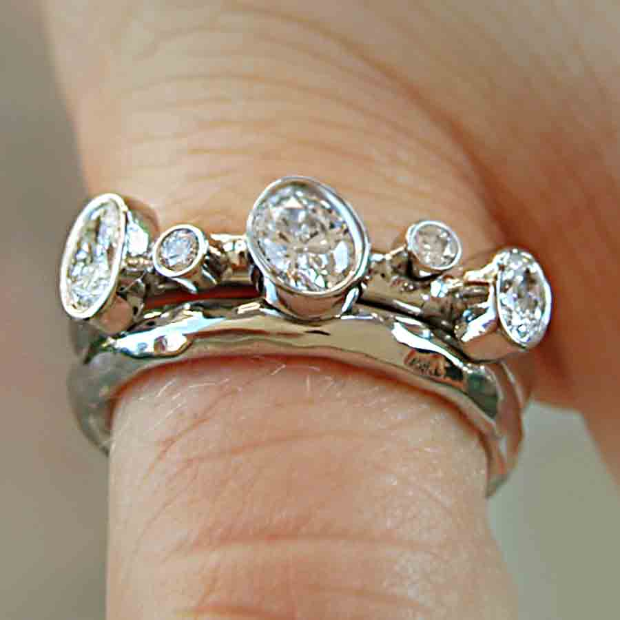 rings shop zirkonia forging cubic brutal wedding silver forged