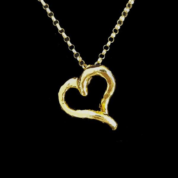 gold vermeil heart charm pendant